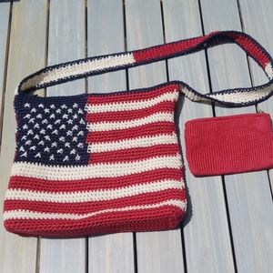 🇱🇷🇱🇷THE SAK AMERICAN FLAG CROCHETED CROSSBODY
